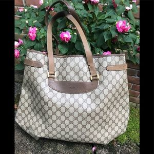 Vintage GUCCI tote bag coated canvas